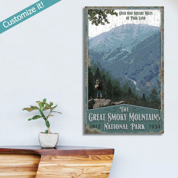 personalized Great Smoky Mountains Vintage Sign