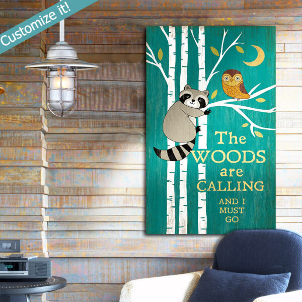 Personalized Lake House Decor, Owl and Raccoon Wall Art, Wooden Sign