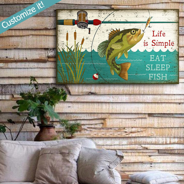 Fishing Poster, Fishing Wall Art, Bass Fishing Decor