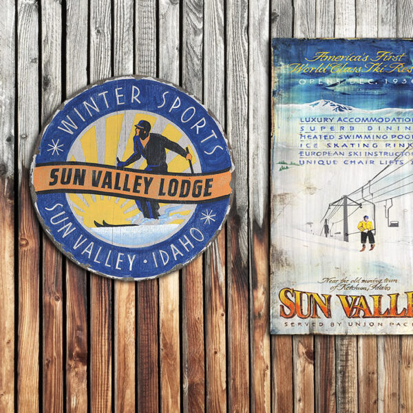 Sun Valley Ski Poster, Printed on Wood