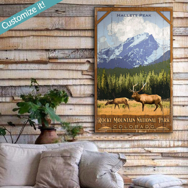 Personalized Rocky Mountain National Park Wooden Sign