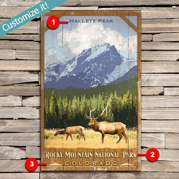 Custom Rocky Mountain National Park Sign