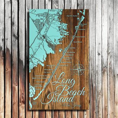 LBI, Long Beach Island, Jersey Shore Map