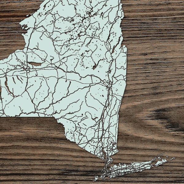 New York State Map, NY Wooden Map, Wall Art, Unique Home Decor