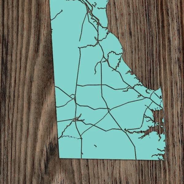 State of Delaware Wood Map, Delaware Map, Wall Art, Delaware Decor Gift ideas