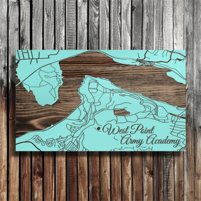 West Point Army Academy Street Map, Wood Wall Art, Laser Engraved West Point Map