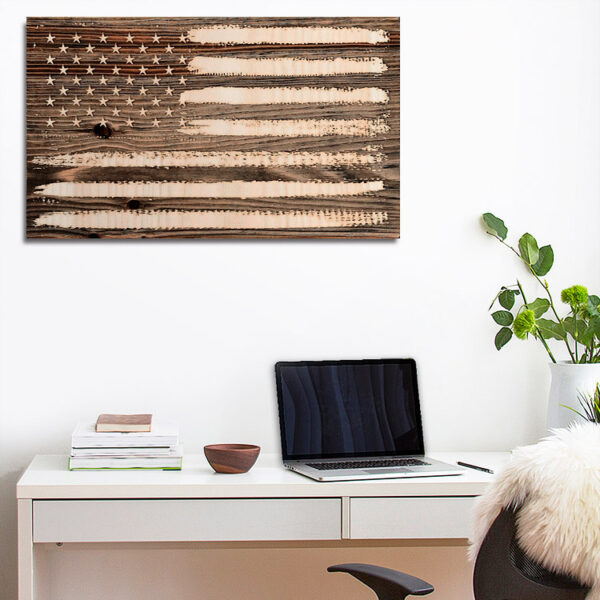 American Flag Wooden Sign, United States Flag Wall Art, Home Decor