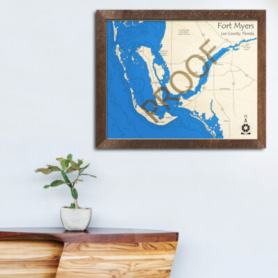 Fort Myers Wood Map, Home Decor