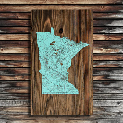 Minnesota Wood Map, Home Decor, Wall Art, Minnesota Gifts