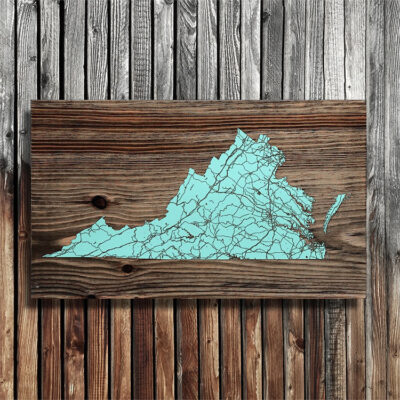 State of Virginia Wood Map, Laser Carved Wooden Wall Sign, Beach House Decor, Nautical Decor, Lake House Decor