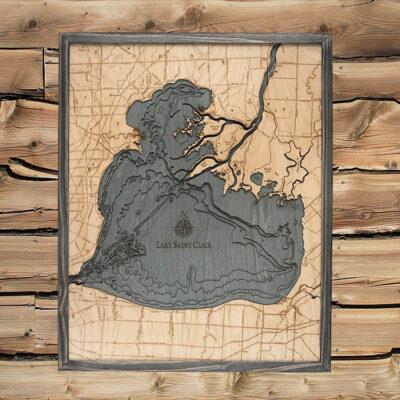 st clair lake map