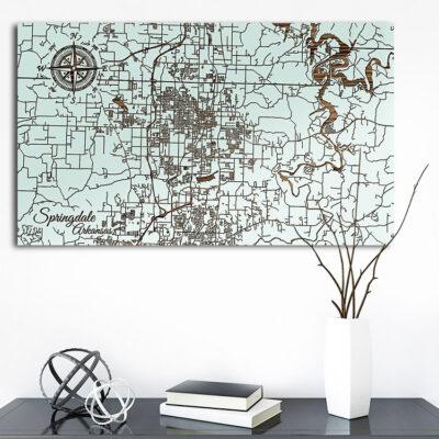 Springdale, Arkansas Street Map