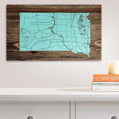 South Dakota Isolated Map