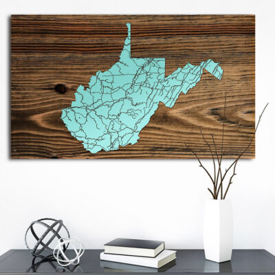 West Virginia Isolated Map