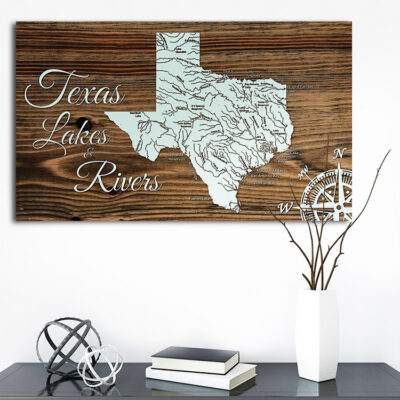 Texas Lakes and Rivers Map