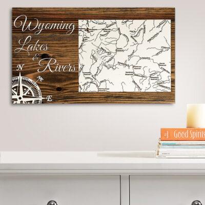 Wyoming Lakes & Rivers Map