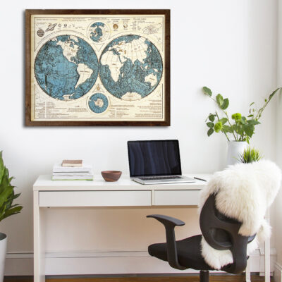 3D Wood Map of the World, Planet Earth Map