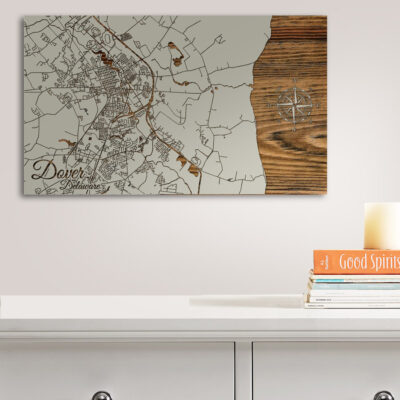 Dover Delaware Wood Map
