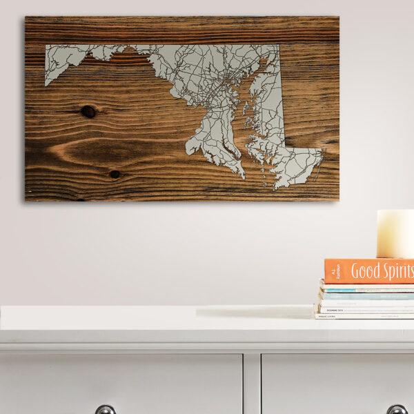 Maryland Wood Map