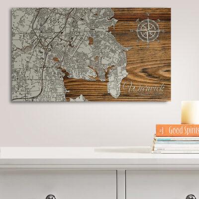 Warwick Rhode Island Map