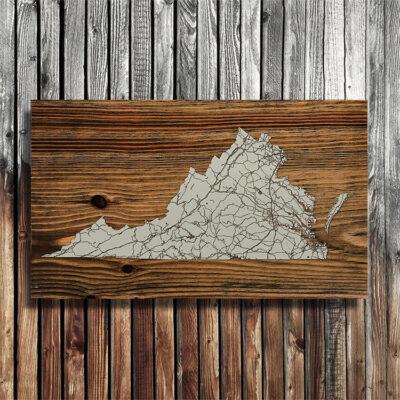 Virginia State Wood Map