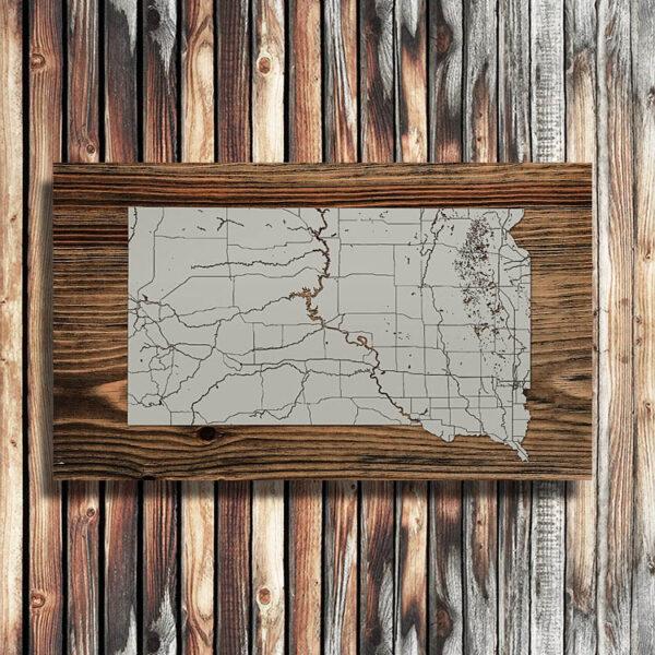 South Dakota Wood Map