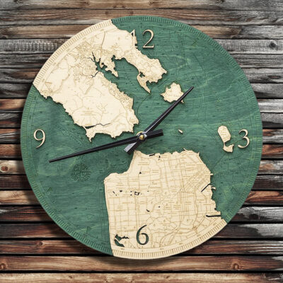 San Francisco Golden Gate Nautical Wood Clock