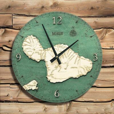 Maui Nautical Wood Clock