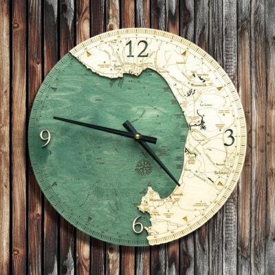 Monterey Bay Nautical Wood Clock