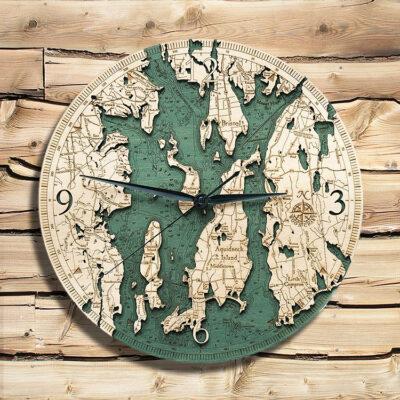 Narragansett Nautical Wood Clock