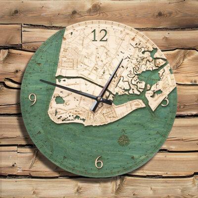 Cape May Nautical Wood Clock