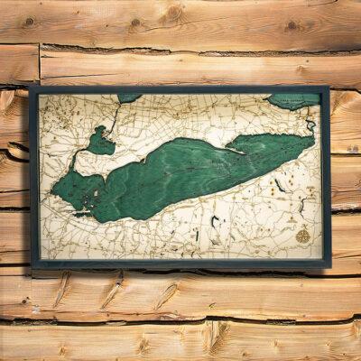 Lake Erie Nautical Wood Serving Tray
