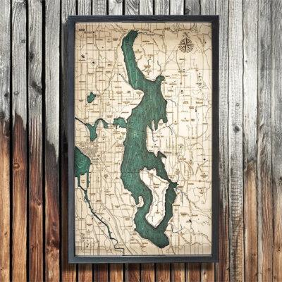 Lake Washington Nautical Wood Serving Tray