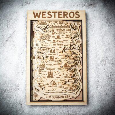 Game of Thrones Fan Art - Westeros Wooden Map 3D