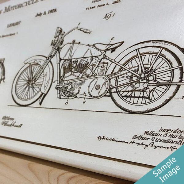 US Patent Art - Laser, engraved wood sign