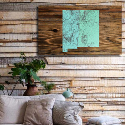 New Mexico Wooden State Map