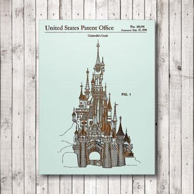 Walt Disney Cinderellas Castle Wood Art