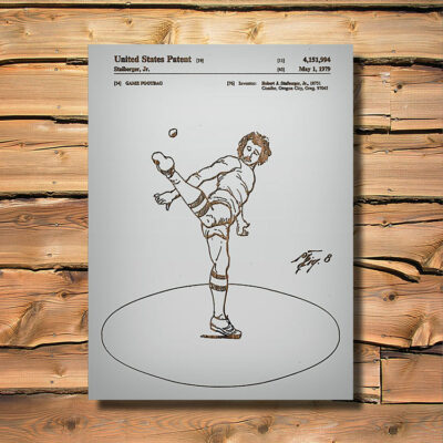 Hacky Sack Game Patent Art Wood Sign