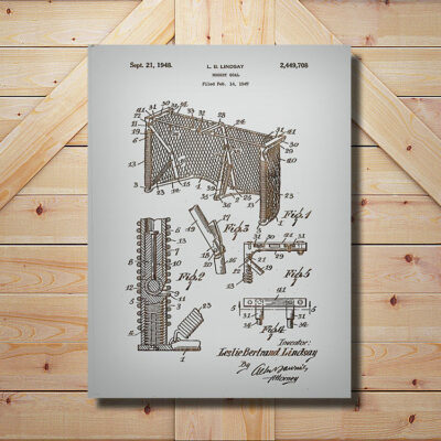 Hockey Goal Patent Carved Wood Art