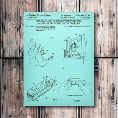 Nintendo Wii Console Wooden Patent Art