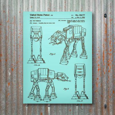 Star Wars AT-AT Wooden Patent Art