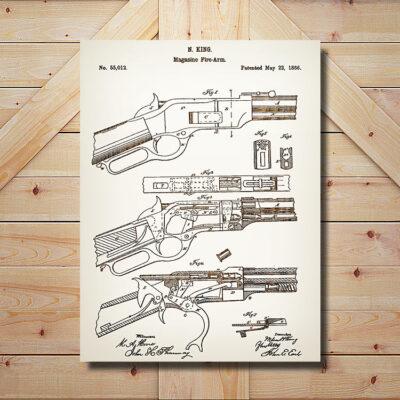 Magazine Firearm Weapon Patent Art Sign